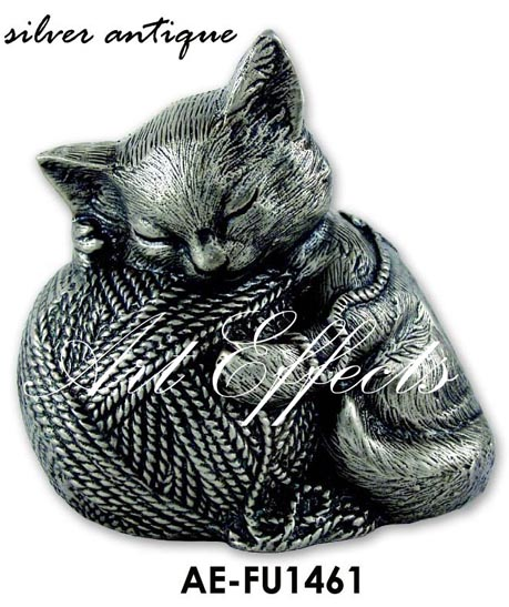 Brass Precious Kitty Figurine Urn